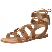 Guess Women's Franda2 Flat Sandal, Tan, 9 Medium US