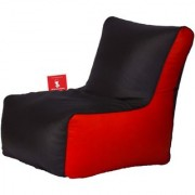 Sicillian Bean Bags Bean Chair - Size Xl - Without Fillers - Cover Only (Black & Red)