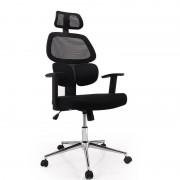 Fotel Biurowy Obrotowy Oddychający Czarny