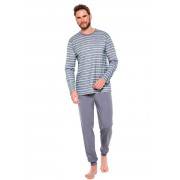 Pijama pentru bărbați Max IX gri cu dungi M