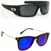 Hrinkar Sports Sunglasses(Black, Green)
