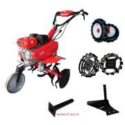 Motosapa ENERGO H75, roti cauciuc, plug, roti metalice, cilindree 212 cm3, putere nominală: 7 CP, greutate: 77 kg