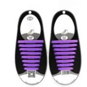 Bolt No Tie Elastic Silicone Shoelaces Shoe Lace PURPLE Shoe Lace(PURPLE Set of 8)