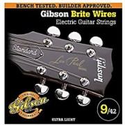 Gibson Brite Wires Electric Guitar Strings Ultra Light 9-42