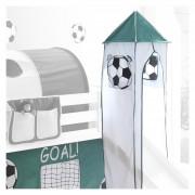 IDIMEX Turm GOAL mit Fußball-Motiv in weiß/grün