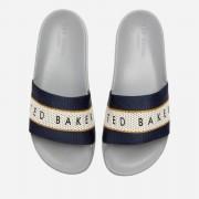 Ted Baker Men's Rastar Slide Sandals - Blue/Grey - UK 10 - Blue/Grey