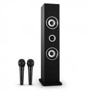 oneConcept Karaboom Set Altoparlanti Karaoke Bluetooth 2 microfoni nero