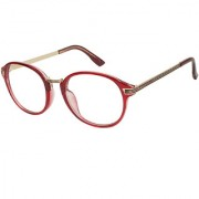 Arzonai Louise Oval Maroon-Transparent UV Protection Sunglasses For Men & Women  MA-3092-S4 