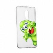 Husa Silicon Transparent Slim Green Monster Asus Zenfone 2 5.5 ZE551ML