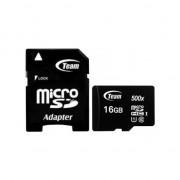 Card de Memorie TEAM micro SDHC, 16GB, Class 10 cu SD Adaptor