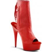 Pleaser Plateau hakken -39 Shoes- DELIGHT-1018 US 9 Rood