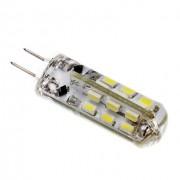 LED lámpa , 12V DC , kukorica , G4 foglalat , 2 Watt , 320° , szilikon bevonat , meleg fehér
