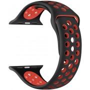 Wotchi Silikonový řemínek pro Apple Watch - Černá/Červená 38/40 mm
