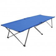 vidaXL Къмпинг легло, 206x75x45 см, XXL, синьо