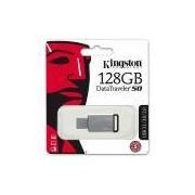 Pen Drive 128gb USB 3.0 prata/preto DT50 Kingston