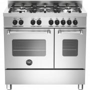 Bertazzoni MAS905 Gasspis 90 cm, 2 ugnar, 5 brännare, modell XE, Rostfri