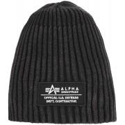 Alpha Heavy Rib II Beanie Negro un tamaño