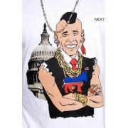 e.5.Charlie B.A. Barackus Custom Printed T Shirt White