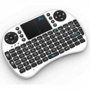 Mini tastatura wireless cu touchpad pentru Smart TV XBox PS PC Notebook Alb Rii