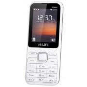 "Telefon mobil M-Life ML600, 2.4"", Bluetooth (Alb) + Cartela SIM Orange PrePay, 6 euro credit, 6 GB internet 4G, 2,000 minute nationale si internationale fix sau SMS nationale din care 300 minute/SMS internationale mobil UE"