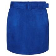 Vero Moda Fustă de damă VMCHILI FAUX SUEDE HW SHORT Sodalite Blue XL