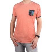 Cars Jeans Tricou imprimat roz bărbați Colon Coral 4088264 L