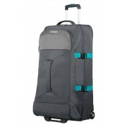American Tourister Road Quest 80cm Large 2-Wheel Duffle Bag - Grey/Turquoise