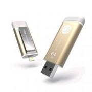 64GB USB Flash Drive, Adam Elements Silicon iKlips Lightning, златиста, USB 3.0/Apple Lightning