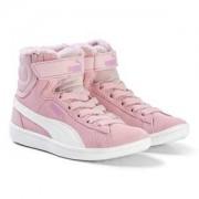 Puma Pink Vikky High Top Kids Sneakers Barnskor 29 (UK 11)