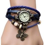 Kayra New LEDHAR Round Dial White Leather Strap Womens Quartz Watch