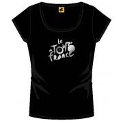 Tour De France T Shirt Dames Met Logo Zwart Maat L