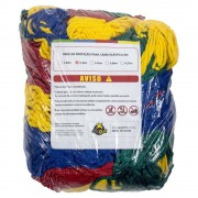 Rede de Proteção Colorida Canguri para Cama Elástica de 2,44/2,50 m