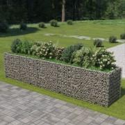 vidaXL Gabião para plantas em aço galvanizado 450x90x100 cm