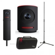Mevo Live Event Camera by Livestream, Black - Bundle With Mevo Boost Livestream, Mevo Case For Live Event Camera, K&M 20170-500-55 Microphone Stand,