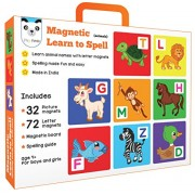 Play Panda Magnetic Learn to Spell : Animals with Magnets (32 Picture, 72 Letter, Board and Spelling Guide)