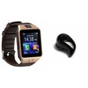 Zemini DZ09 Smart Watch and Kaju Bluetooth Headphone for SAMSUNG GALAXY A3 DUOS(DZ09 Smart Watch With 4G Sim Card Memory Card| Kaju Bluetooth Headphone)