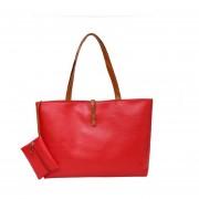 EY Las Mujeres PU Leather Tote Bolsas De Hombro Hobo Satchel Bolsos Bolso Bolso Messenger-Rojo