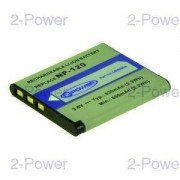 2-Power Digitalkamera Batteri Casio 3.6v 630mAh (NP-120)