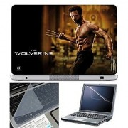 FineArts Laptop Skin The Wolverine With Screen Guard and Key Protector - Size 15.6 inch