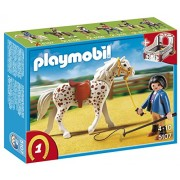 Playmobil Knabstrupper Horse with Trainer and Stable, Multi Color