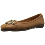 Aerosoles Women's High Bet Ballet Flat, Dark Tan Leather, 11 W US