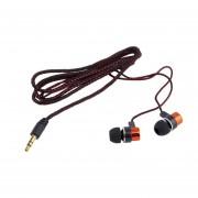 EY Cableado Trenzado Auriculares Intrauditivos Estéreo Super Bass Con Aislamiento Del Ruido-Rojo