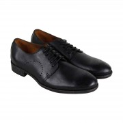 Robert Wayne Tf Utah Mens Black cuir robe Casual Lace Up chaussures...
