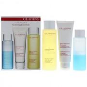 Clarins cleansing essentials face and eyes confezione regalo 125 ml detergente viso + 200 ml lozione tonificante + 125 ml struccante occhi