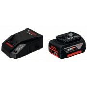 Комплект стартов GBA 18 V 4,0 Ah M-C + AL 1860 CV, 1 x 4,0 Ah, 1600Z00043, BOSCH