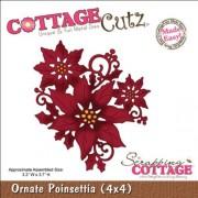 CottageCutz 4X4423 Troqueles de Troquelado, 10 x 10 cm, diseño de Poinsettia