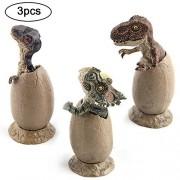 Hatching Dinosaur Eggs,ITOY&IGAME Novelty Magic Crack Dinosaur Eggs Toys Model Pack of 3 Dinosaur Egg Hatching Educational Toy for Kids