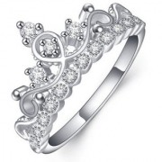 Gorgeous Crown Design Elements Sterling Silver Adjustable Ring For Women & Girls
