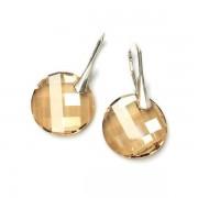 TWIST stříbrné náušnice Golden S.