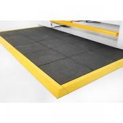Certeo Arbeitsplatzbodenbelag - mit geschlossener Oberfläche, Nitrilgummi - 900 x 900 mm, schwarz